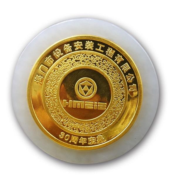 海门市设备安装工程金镶玉纪念币