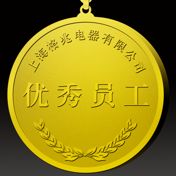 上海格兆电器优秀员工定制金币