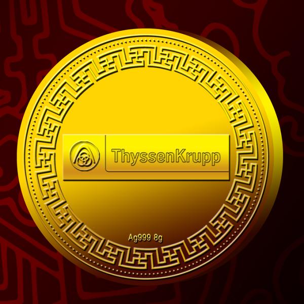 蒂森克虏伯电梯 (中国)金徽章纪念币