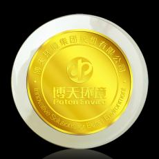 北京博天环境金镶玉纪念币