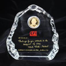 艾菲水晶纪念章