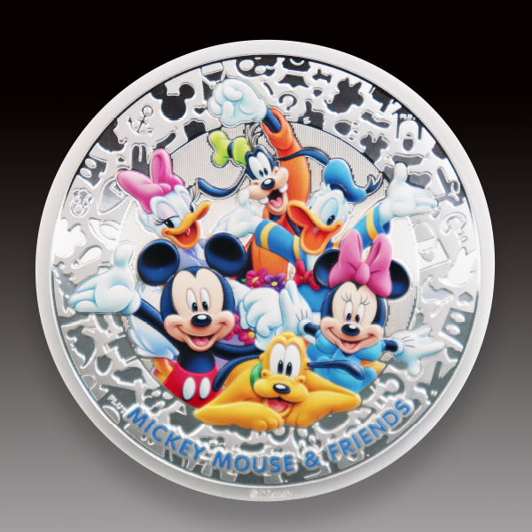 迪士尼彩印银币
