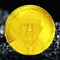 艾菲发动机零件公司银章金币定制