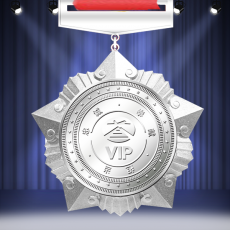 VIP纯银奖牌