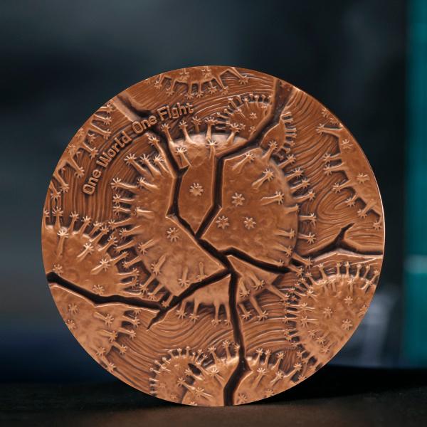 新型冠状病毒抗疫纪念铜章