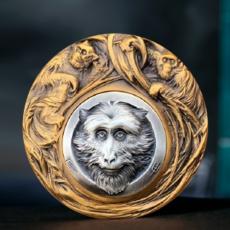 猴子生肖高浮雕铜章