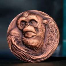 猴子生肖铜章