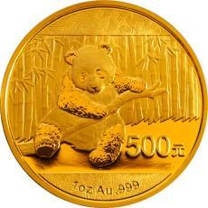 2014版熊猫纪念币1盎司金币